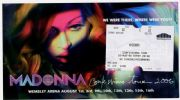 CONFESSIONS TOUR - WEMBLEY TICKET HOLDER / PROMO FLYER
